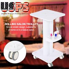 ABS Beauty Salon Trolley For Salon Pedestal Rolling Cart Wheel Aluminum Stand
