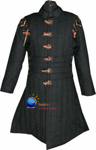 Medieval Thick Padded Full Sleeves Aketon Jacket Gambeson Costume