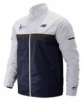 New Balance Men's 2019 NYC Marathon Windcheater Jacket Navy with White