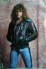 RARE JON BON JOVI 1986 VINTAGE ORIGINAL MUSIC POSTER