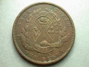 Canada 1837 Deux Sous Province Du Bas One Penny Token