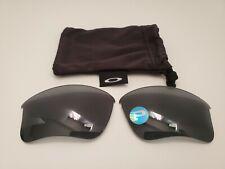 Oakley Flak Jacket XLJ 1.0 Black Iridium Polarized Replacement Lenses Brand New!