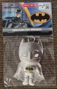 Hallmark DC Comic Batman Superhero Metal Black Enamel Small Christmas Ornament