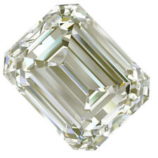 1.17ct vvs1/5.73MM OFF WHITE COLOR LOOSE EMERALD SQUARE MOISSANITE 4 RING