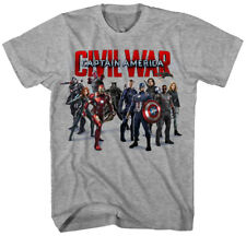 Authentic Avengers Captain America Civil War Group Shot Adult T-shirt Medium top