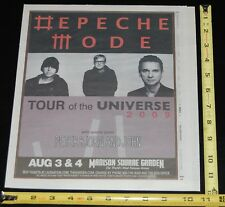 Depeche Mode 2009 Tour Of The Universe Msg Nyc Village Voice Concert Ad