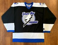 Tampa Bay Lightning Vintage Starter NHL Hockey Jersey Size L Large 90s Authentic