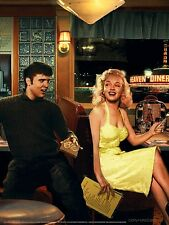 MARILYN MONROE AND ELVIS PRESLEY SEATED IN HEAVEN DINER 8X10 SMALL POSTER print