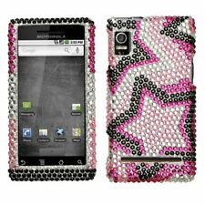Twin Stars Bling Hard Case Cover Motorola Droid 2 A955