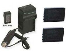 TWO 2 Batteries + Charger for Sanyo VPC-HD2000GX VPC-TH1BL VPC-TH1EX VPC-TH1GX