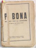 BONA METODO PER LA DIVISIONE CASA MUSICALE TERNI MUSICA