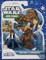 New Han and Chewbacca Star Wars Playskool Heroes Jedi Force Action Figure Set