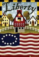 LARGE LIBERTY FARM DECORATIVE GARDEN FLAG YARD ART