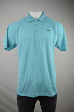 [3181]Lacoste Sport Mens Blue Short Sleeve Pique Polo Shirt Sz Fr 6 XL