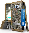 AUTUMN CAMO TREE REAL WOODS CASE COVER KICKSTAND FOR SAMSUNG GALAXY S8 PLUS, S8+