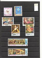 N°541,542 - RAS AL KHAIMA ( 1968-72 ) ( poste aérienne ) - 72 timbres obli