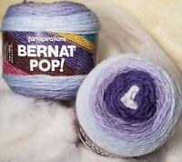 BERNAT POP! Yarn ~ Blue Chambray ~ Lot of 2 New Cakes