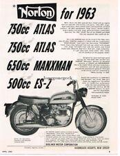 1963 Norton Atlas Motorcycle Vintage Ad