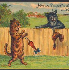 """Mint.! Wain,""""Fortune Telling"""" """"You Will Meet A Dark Man.Present"""",Tuck,Postcar d"""