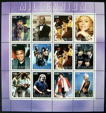 2001 MNH TATARSTAN MILLENNIUM STAMPS SHEET ENTERTAINERS KISS BEATLES GARCIA