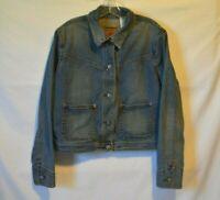 Women's Vintage LEVIS Denim Jean Trucker Jacket Size Large XL Butterfly VTG EUC