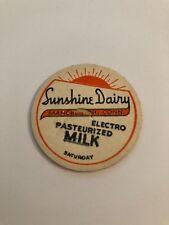 Sunshine Dairy Milk Bottle Cap - Manchester, CT