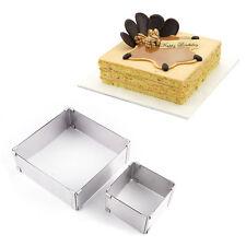 S+L Adjustable Mousse Cake Mould Set Bake Ring Slicer Mold Layer Square/Retangle