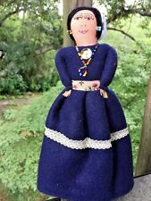 Vintage Antique Handmade Navajo Doll TURQUOISE Native American Indian Maiden