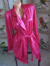 Victoria's Secret lingerie satin robe knee length sash dark pink Medium $78
