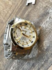 Seiko Premier Kinetic 5D22-0ADO Watch Automatic preowned but NICE Works Great