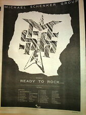MICHAEL SCHENKER GROUP Ready To Rock tour UK Poster size Press ADVERT 16x12""