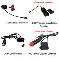 3V/12V/USB Controller fit Glow LED Light String Strip RV Neon Rope El Wire Car