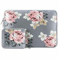 MOSISO Laptop Sleeve - 15 inch MacBook, Notebook, Laptop - Grey Floral