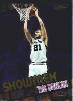 2000-01 Finest Showmen #S3 Tim Duncan San Antonio Spurs