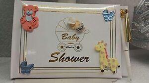 Baby Shower Guest Book Safari Jungle Animals Baby Boy Signature Book