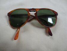 Persol brown frame folding sunglasses. 9714-S Terra di Sienna.