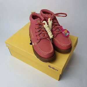BRAND NEW IN BOX Lucy And Yak Kickers Shoes  Pink Lennon Hi Style EU 37 UK 4