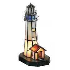 Tiffany-style Nautical Lighthouse Lamp