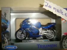 Motos miniatures bleus Triumph