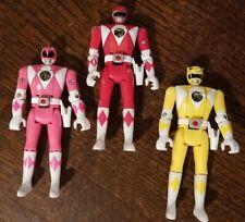 Bandai MIGHTY MORPHIN POWER RANGERS 1993 Flip Head Lot Red Pink Yellow MMPR