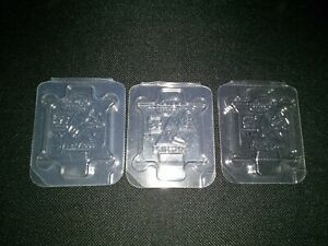 Lot of 3 Intel genuine Clam Shell LGA 1150 1151 1155 1156 CPU Protective Cases