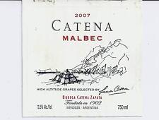 Catena Malbec 2007 Argentina Wine Bottle Labels