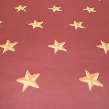 Vintage Wallpaper Nursery Brick Red and Beige Stars by Motif