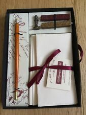 Stuart Houghton Correspondence Set Calligraphy Pen Paper Wax And Brass Seal New