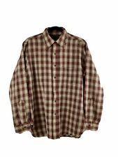 Pendleton Mens Size Large 100% Virgin Wool Button Shirt Plaid Red Made In USA