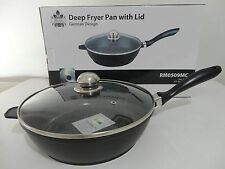 DEEP FRYER PAN/WOK NON-STICK WITH GLASS LID