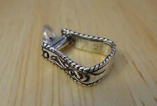 Sterling Silver 3D 15x10mm Fancy Horse Western Stirrup Tack Charm