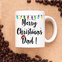 Merry Christmas Dad - Xmas Gift for Family and Friends  - Coffee Mug Tea Cup