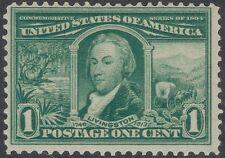 TMM* 1904 US 1c US LA Purchase Stamp Scott #323 F/VF mint/light hinge/old gum