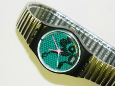 Swatch VELVET UNDERGROUND lady plastic swiss quartz watch with flexible bracelet